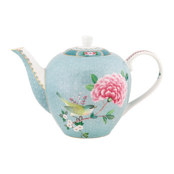 Blushing Birds Teapot - Blue
