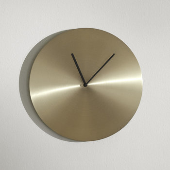 Norm Wall Clock - Brass