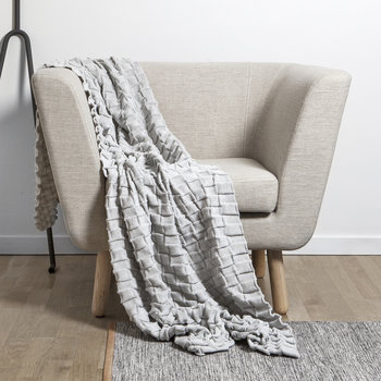 Curly Throw - 170x80cm - Off White
