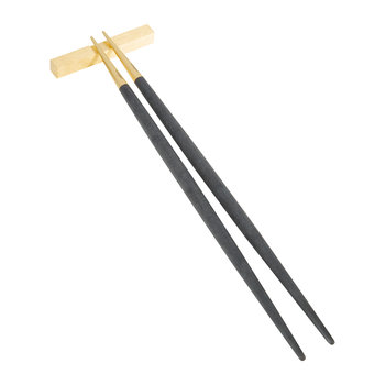 Goa Chopstick Set - Black/Gold