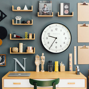 Number One Academy Wall Clock - Black