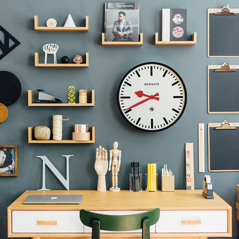 The Large Putney Wall Clock - Black