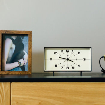 Wideboy Alarm Clock - Black & Cream