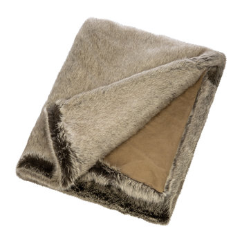 Faux Fur Throw - Signature Truffle