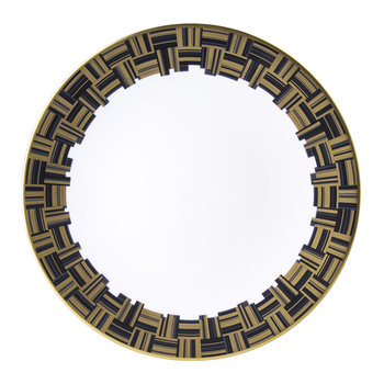 Broadway Dinner Plate - Black/Gold/White