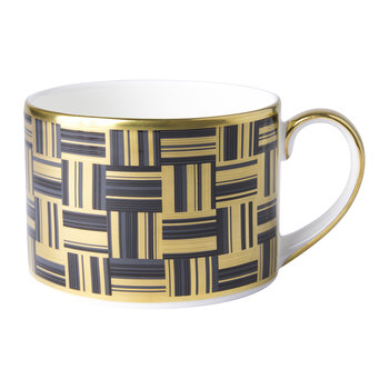 Broadway Teacup - Black/Gold/White