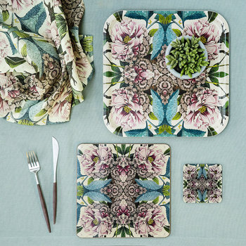 Patch NYC Flora Tray - Square - Peonies