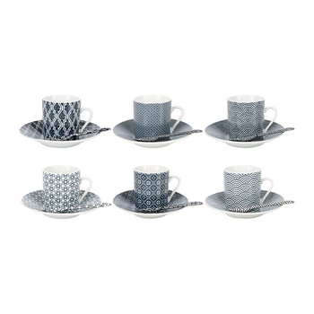 Nippon Dark Blue Espresso Set - Set of 18 Pieces