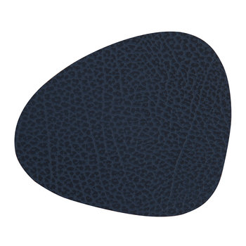Hippo Curve Drinks Coaster - Navy Blue