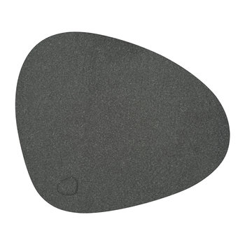Hippo Curve Table Mat - White Grey
