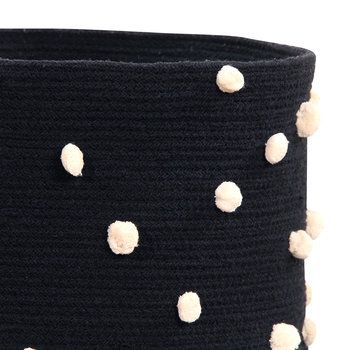 Pebbles Cotton Basket - Black