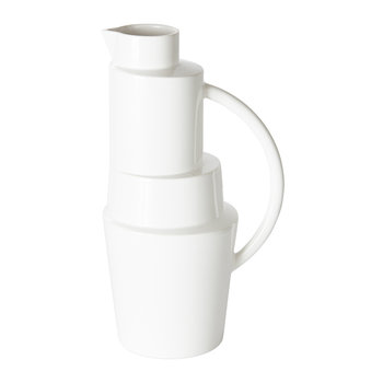 Block Pitcher - White Gloss