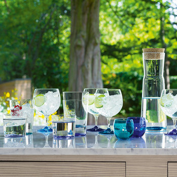 Coro Assorted Balloon Glass - Set of 4 - Lagoon