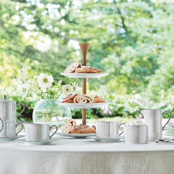Polka Tiered Cakestand - Pearl