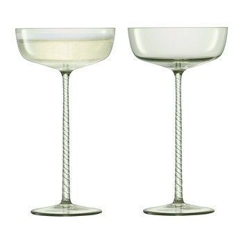 Champagne Theatre Saucer - Set of 2 - Smoke Grey