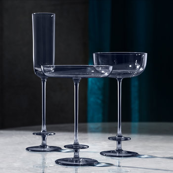 Champagne Theatre Saucer - Set of 2 - Midnight Blue
