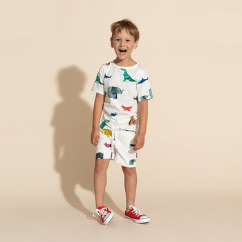 Children's Paper Zoo Pyjama Shorts