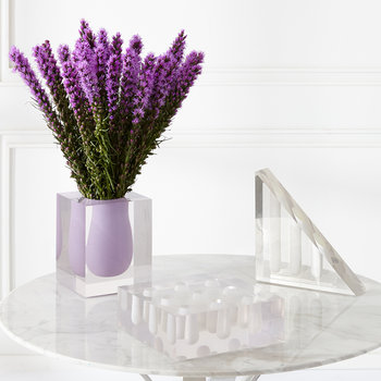 Bel Air Acrylic Wedge Vase - White