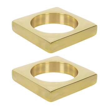 Brass Napkin Rings - Set of 2