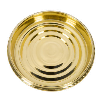 Coin Edged Bottle Coaster - Brass