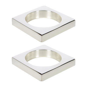 Silver Plated Brass Napkin Rings - Set of 2