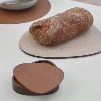 Curve Wooden Coaster Holder - Oak Smoked