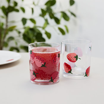 Strawberries Acrylic Tumblers - Set of 2