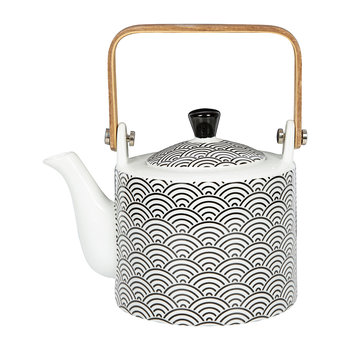 Nippon Black Straight Teapot - Wave