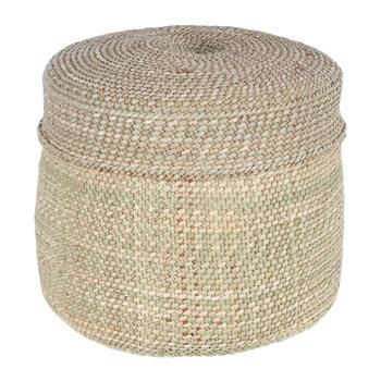 Pango Lidded Hand Woven Basket - Natural