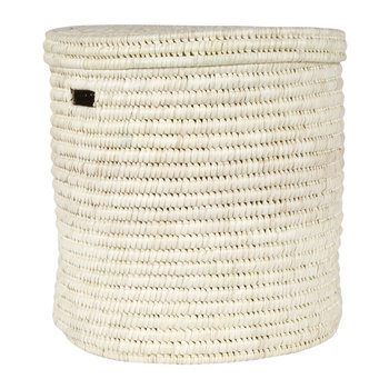 Pale Hand Woven Laundry/Storage Basket - Natural