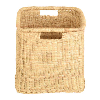 Mraba Square Hand Woven Storage Basket - Natural