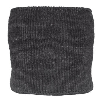 Plain Usiku Hand Woven Basket - Black Coal