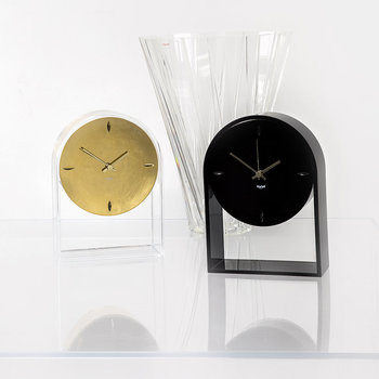 Air Du Temps Clock - Crystal/Gold