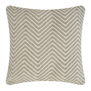 Herringbone 100% Recycled Cushion - 45x45cm - Natural