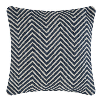 Herringbone 100% Recycled Pillow - 45x45cm - Navy