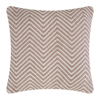 Herringbone 100% Recycled Cushion - 45x45cm - Rose