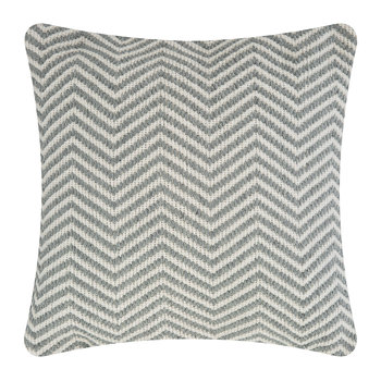 Herringbone 100% Recycled Cushion - 45x45cm - Sky Grey