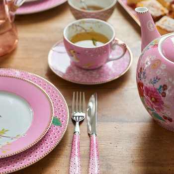 Rose Dinner Plate - Pink