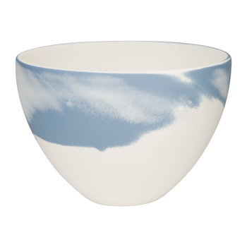 Pebble Jasperware Coupe Bowl - Blue/White