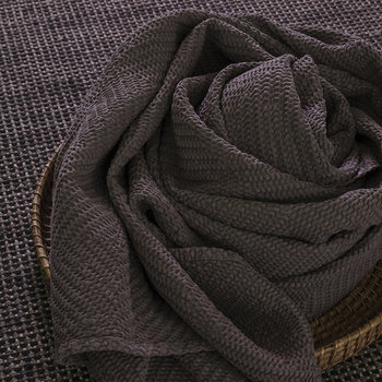 Maia Stonewashed Throw - Carbon