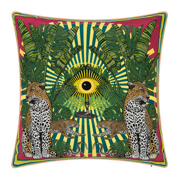 Eye of the Leopard Cushion - 45x45cm - Lime