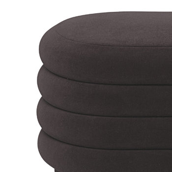 Oval Pouf - Chocolate