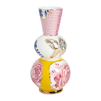 Floral Royal Round Vase - Yellow