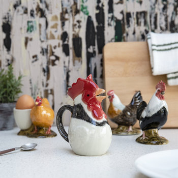 Ceramic Chicken Jug - Light Sussex - Medium