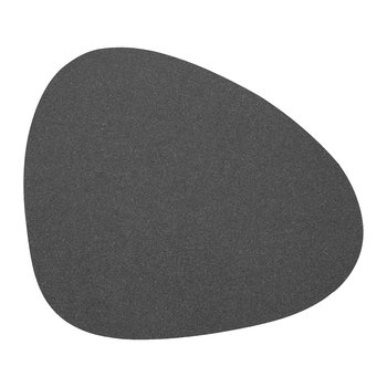 Hippo Curve Table Mat - Black Anthracite