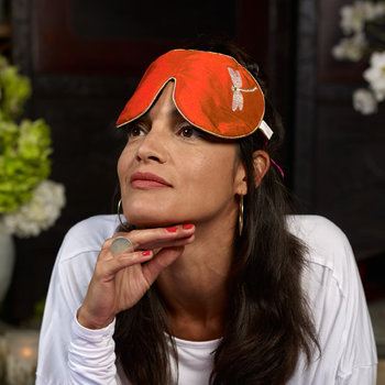 Lavender Eye Mask - Tibetan Orange