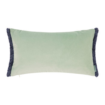 Velvet Fringe Cushion - 50x30cm - Peppermint