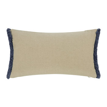 Velvet Fringe Reversible Cushion - 50x30cm - Peppermint