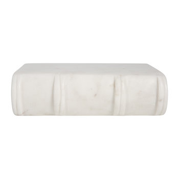 Marble Stone Book Weights - White