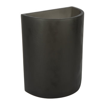 Demi Lune Vase - Grey